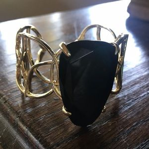 Kendra Scott black and gold cuff